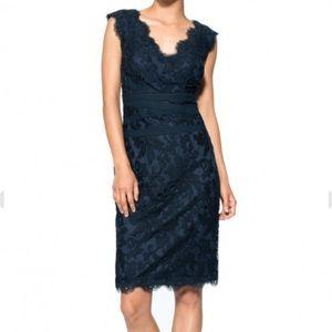Tadashi Shoji Embroidered Lace Sheath Dress sz 12